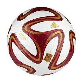 Balón fútbol adidas Mundial 2014 Brazuca blanco y burdeos