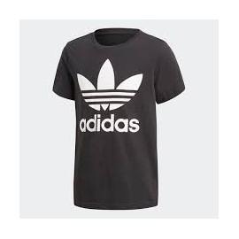 Camiseta Adidas J Trefoil tee negro/blanco junior