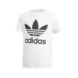 Camiseta Adidas J Trefoil tee blanco/negro junior