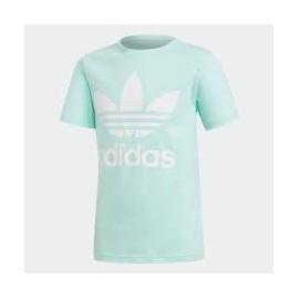 Camiseta adidas J Trefoil tee verde/blanco junior
