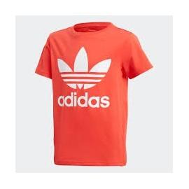 Camiseta adidas J Trefoil tee rojo/blanco junior