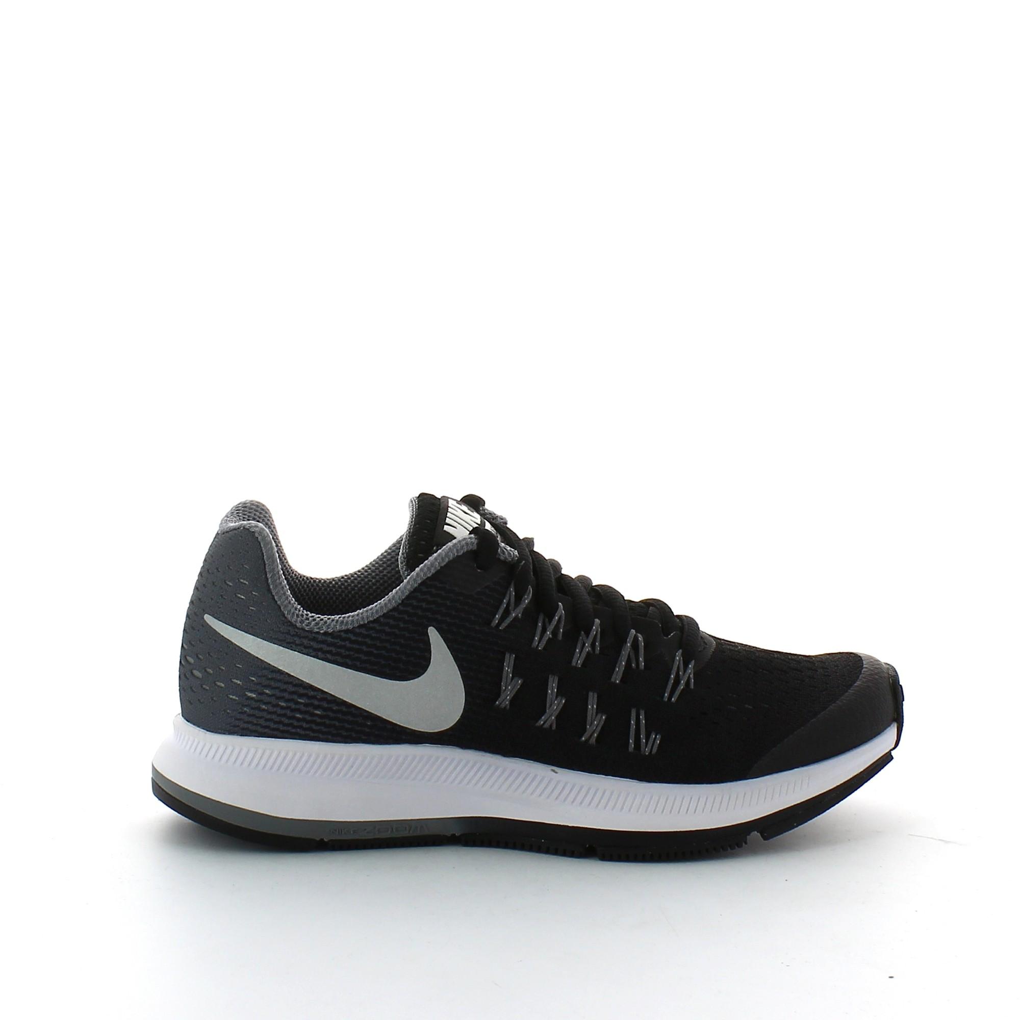 Zapatilla Nike Zoom Pegasus 33 Gs Negro Gris Junior