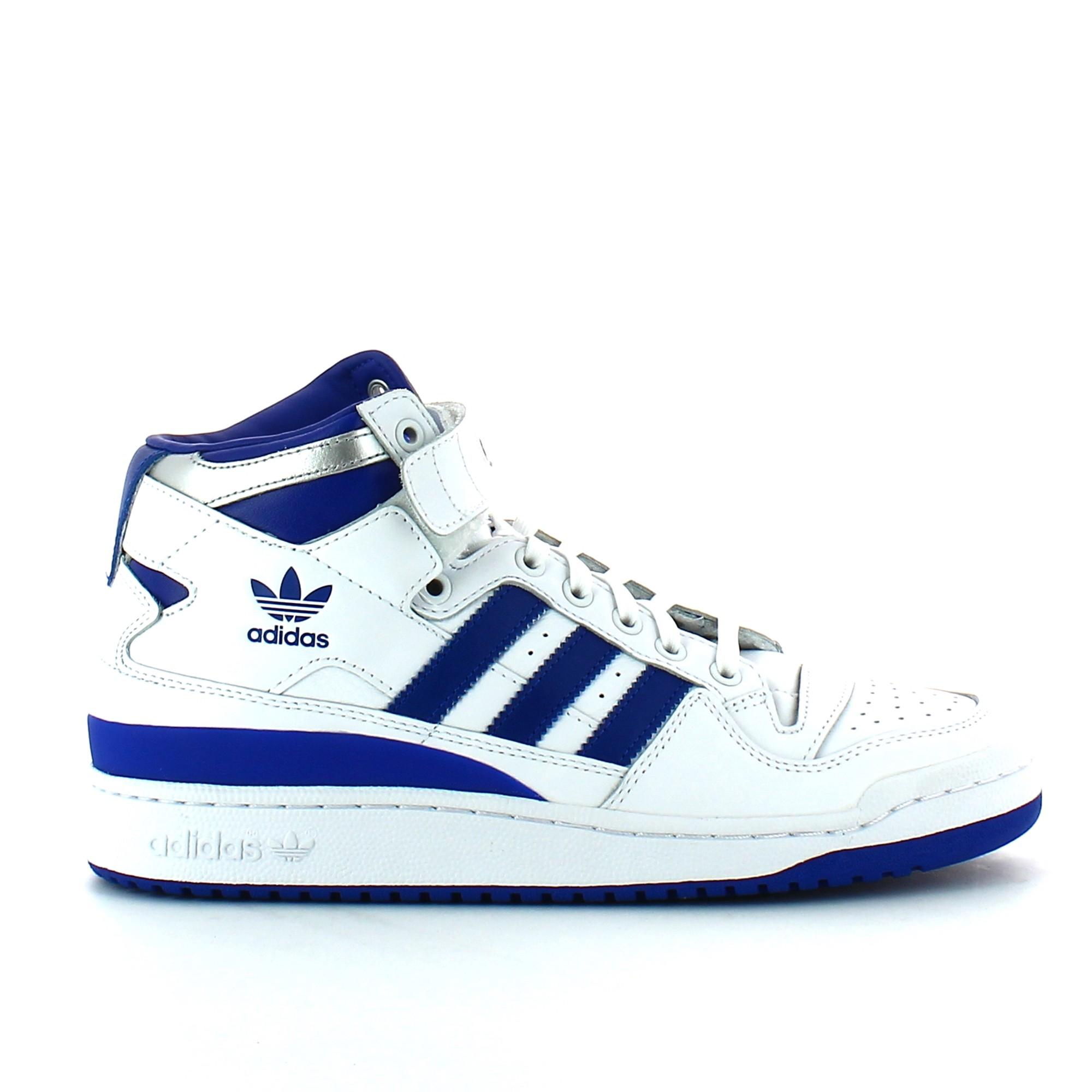 b70d805c3a5b3d Zapatillas Adidas Forum Mid Refined Blanco Azul Hombre - Deportes Moya