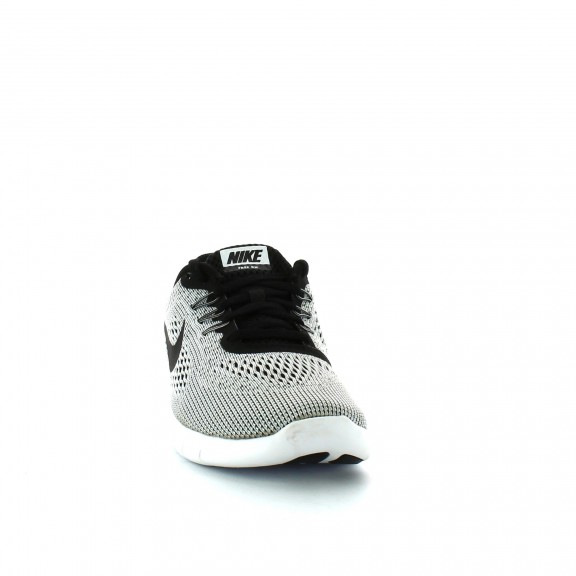 Zapatillas Nike Free Rn Gs Blanco Negro Junior - Deportes Moya c68e3b470f336