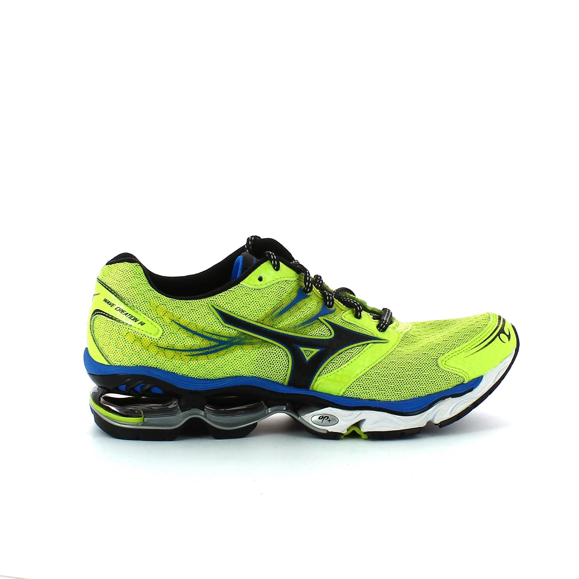 3e32e9db01 Zapatillas Running Mizuno Wave Creation 14 Verde Azul Hombre - Deportes Moya