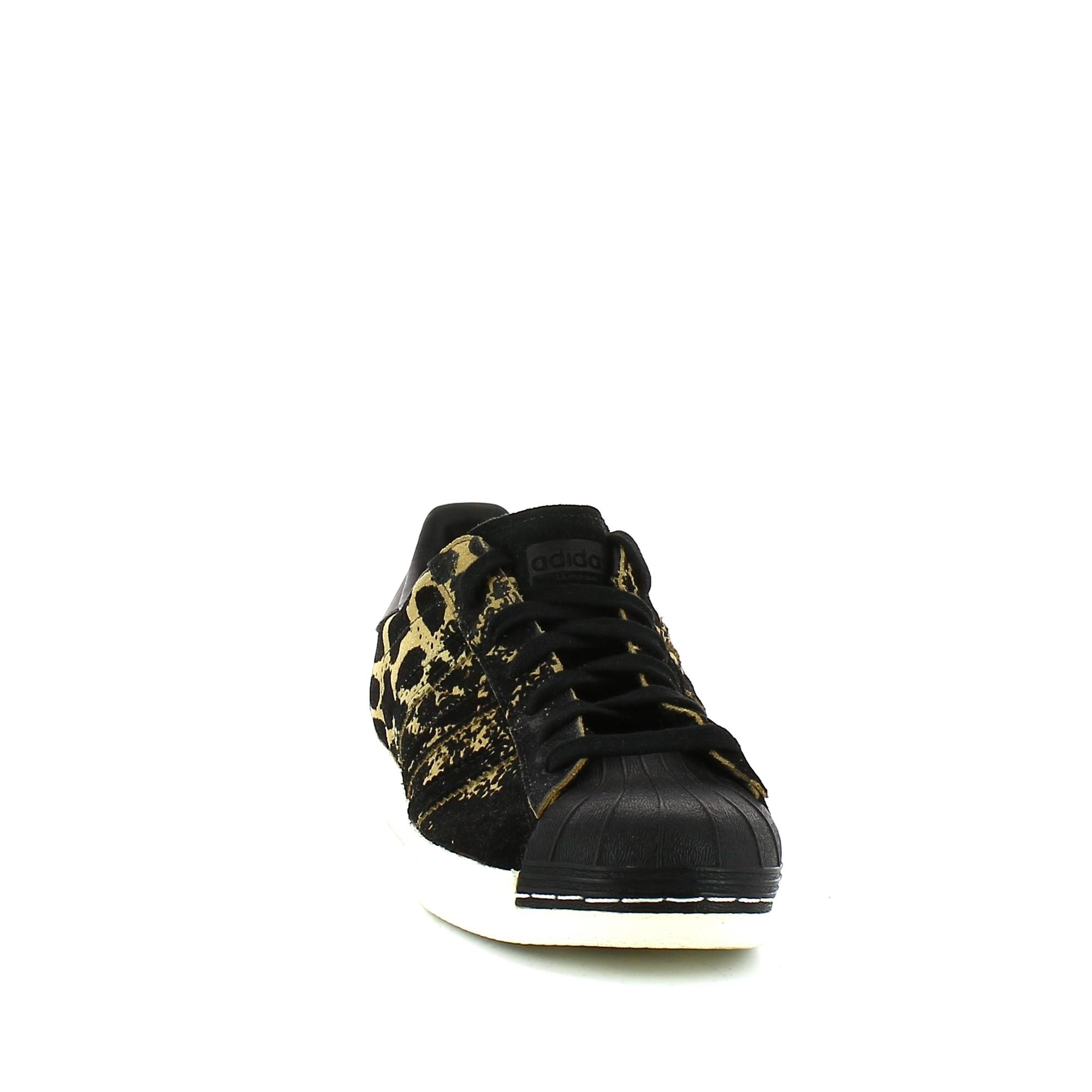 new concept 8792d 692e0 W Deportes 80s Zapatillas Leopardo Moya Negro Superstar Adidas Mujer  OtwqwEPf