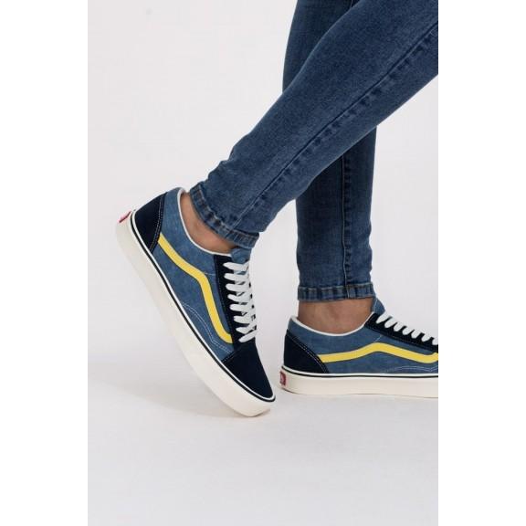 Zapatillas Vans Old Skool Lite azul amarillo hombre