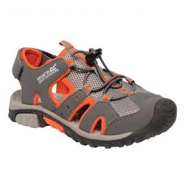 Sandalias trekking Regatta Deckside gris/naranja niñ@