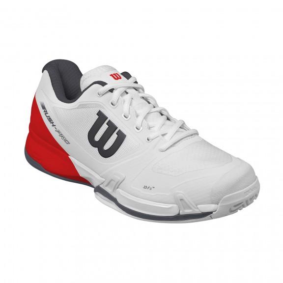 Zapatillas tenis Wilson Rush Pro 2.5 blanca/roja hombre