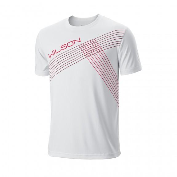 Camiseta Tenis Wilson Transverse tech tee blanca hombre