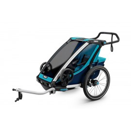Carrito Thule Chariot Cross1 + Kit bici azul 17 TH10202001