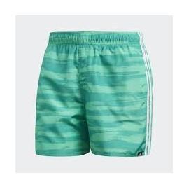 Bañador Adidas Allover print 3 bandas verde hombre