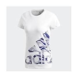 Camiseta adidas Adi logo tee blanca mujer
