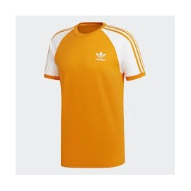 Camiseta Adidas 3-Stripes tee naranja hombre