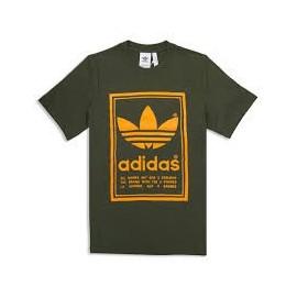 Camiseta adidas Vintage tee verde hombre