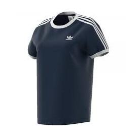 Camiseta adidas 3-Stripes tee W azul mujer