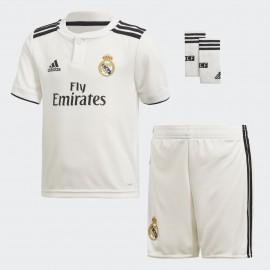 Minikit fútbol adidas Real Madrid 2018/19 1ª blanca niño
