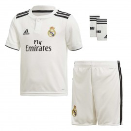 Conjunto fútbol adidas Real Madrid 2018/19 1ª blanco junior