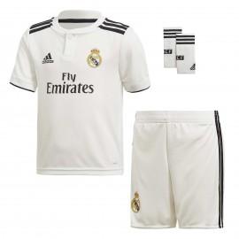 Conjunto fútbol adidas Real Madrid 2018/19 1ª blanco junior