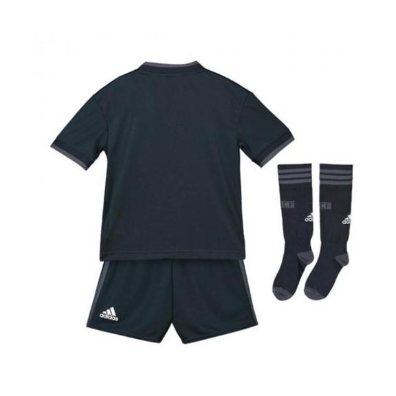 Conjunto fútbol adidas Real Madrd 2018/19 2ª negro junior