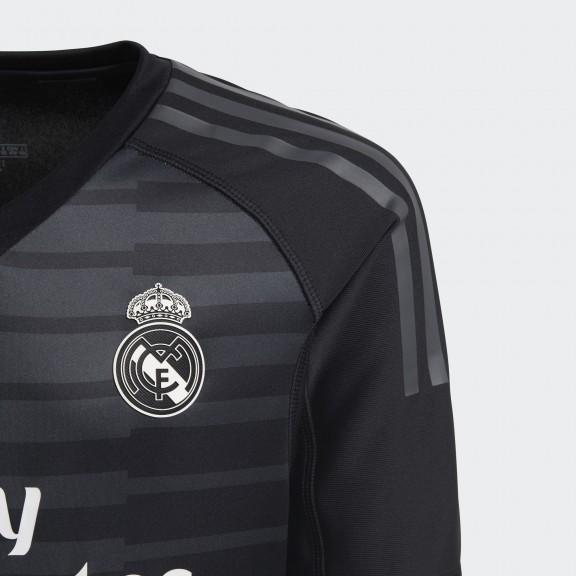 36af80c5a460f Camiseta Fútbol Adidas Real Madrid 2018 9 Portero Negra Niño ...