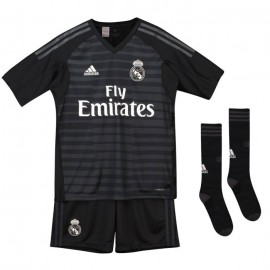 Kit fútbol adidas Real Madrid 2018/19 portero negra junior