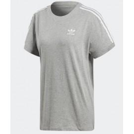 Camiseta Adidas 3 Stripes tee gris mujer