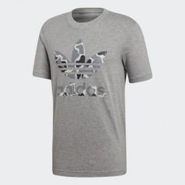 Camiseta adidas Camo trefoil tee gris hombre