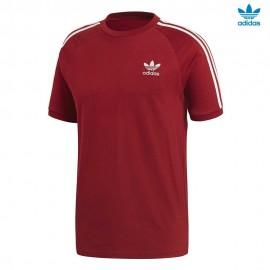 Camiseta adidas 3-Stripes tee burdeos hombre