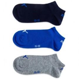 Calcetines Puma Sneaker plain pack 3 azul gris