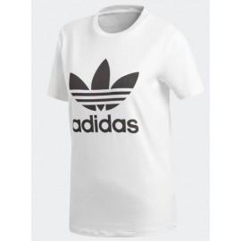 Camiseta adidas Trefoil tee blanca/negra mujer