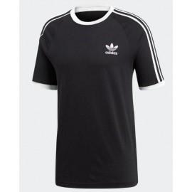Camiseta Adidas 3-Stripes tee negra hombre