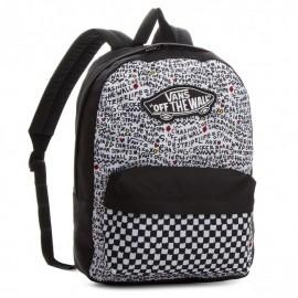 Mochila Vans Realm backpack negra y blanca