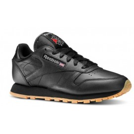Zapatillas Reebok Classic leather negra suela caramelo mujer