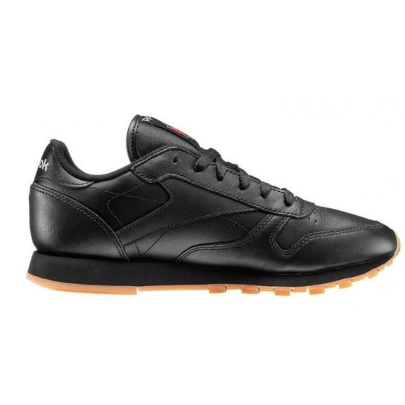 c65a6f686 Zapatillas Reebok Classic Leather Negra Suela Caramelo Mujer ...