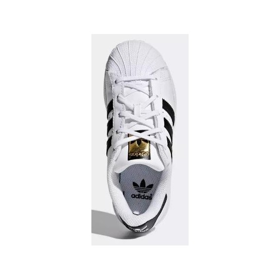 Zapatillas adidas Superstar blanco y negro niñ@