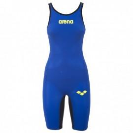 Bañador Competición Arena Carbon Air azul eléctrico mujer