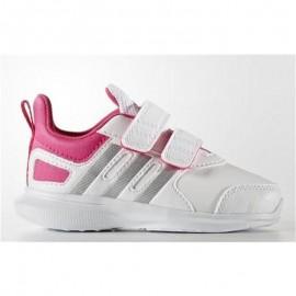 Zapatillas Adidas Hyperfast 2.0 Cf blanco rosa junior