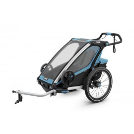 Carrito Thule Chariot Sport1 azul-negro v17 10201001