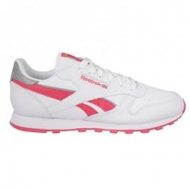 Zapatillas Reebok Classic Leather Reflect blanco rosa junior