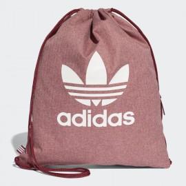 Mochila cuerda adidas Gymsack casual burdeos /blanca
