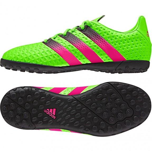 Botas Fútbol Adidas Ace 16.4 Tf J Verde Fuxia Junior - Deportes Moya f0825bdaceecf