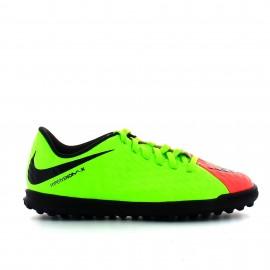 Zapatilla futbol Nike jr Hypervenomx phade III tf verde