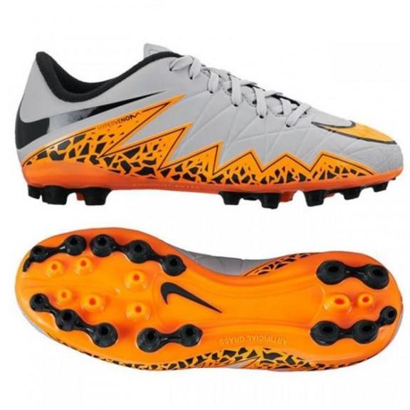 Botas futbol Nike Hypervenom Phelon Jr gris naranja junior