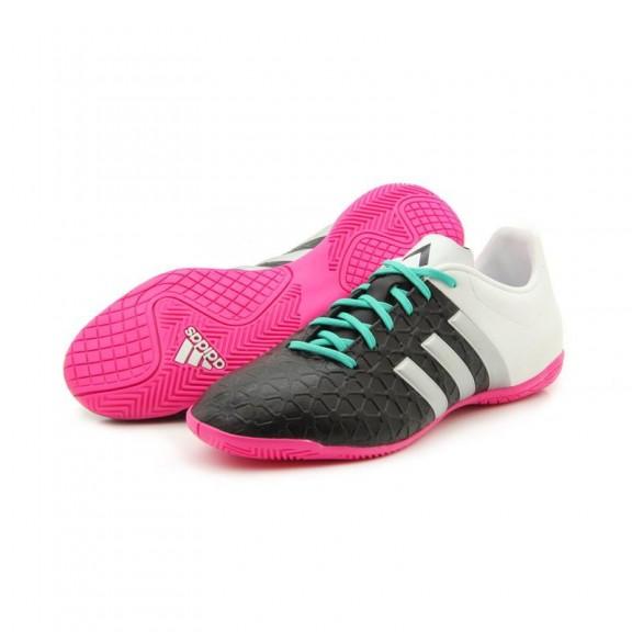 Zapatillas Fútbol Adidas Ace 15.4 In J Blanco Negro Junior ... a62ddb79503c2