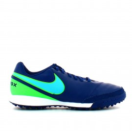 Botas  fútbol Nike Tiempo Genio Leather II Turf azul hombre