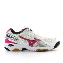 Zapatillas Mizuno Wave Twister 4 W blanco rosa mujer