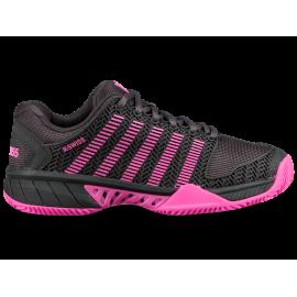 Zapatillas padel Kswiss Hypercourt express gris/rosa mujer