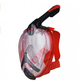Máscara snorkel Seac Unica rojo/negro adulto