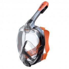 Máscara snorkel Seac Unica negro/naranja adulto